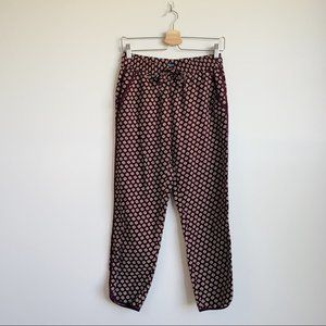 Madewell Floral Lounge Pants Red Tie Waist XS S